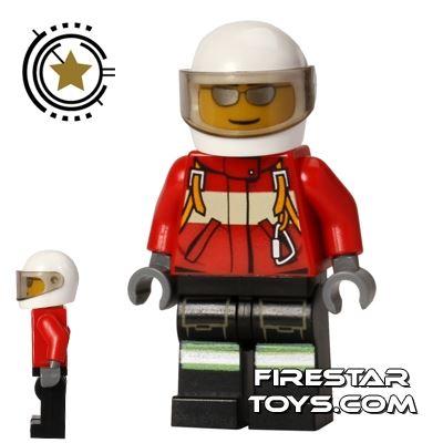 LEGO City Mini Figure - Fire Plane Pilot - White Helmet