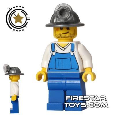 LEGO City Mini Figure - Miner - Blue Overalls
