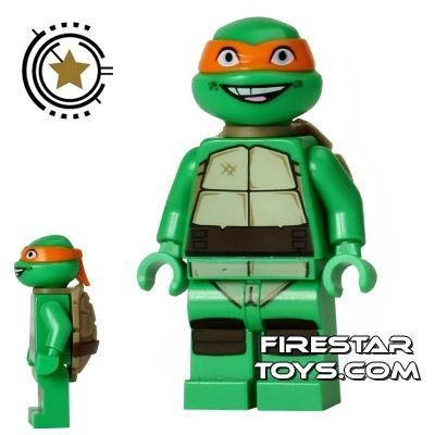 LEGO Teenage Mutant Ninja Turtles Mini Figure - Michelangelo - Smiling