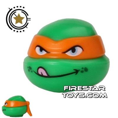 LEGO Mini Figure Heads - Teenage Mutant Ninja Turtles - Michelangelo