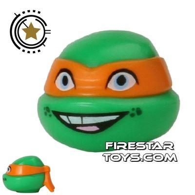 LEGO Mini Figure Heads - Teenage Mutant Ninja Turtles - Michelangelo Smile