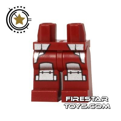 LEGO Mini Figure Legs - Shredder - Silver Armour