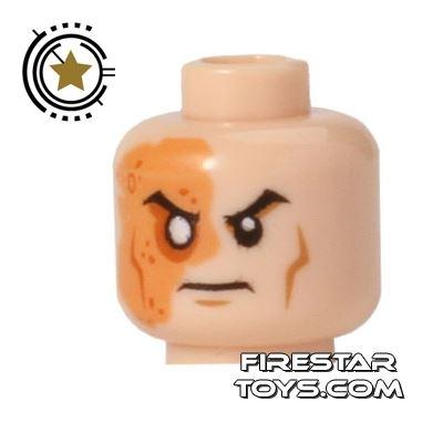 LEGO Mini Figure Heads - Shredder - Scarred Face