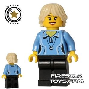 LEGO City Mini Figure - Shell Necklace - Cropped Hair