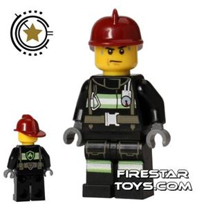 LEGO City Mini Figure � Fire - Sweat Drops
