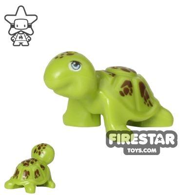 LEGO Animals Mini Figure - Turtle - Reddish Brown Spots