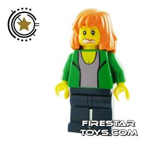 LEGO Spiderman Mini Figure - Mary Jane 2 - Green Outfit