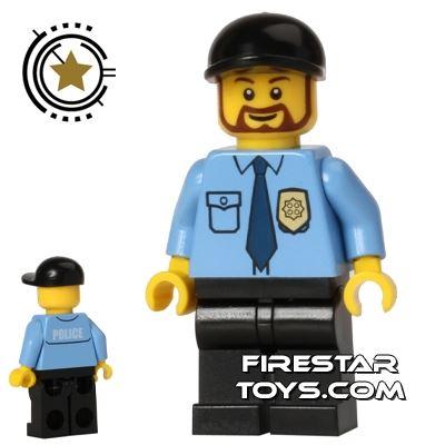 LEGO City Mini Figure - Police - Blue Shirt