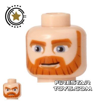 LEGO Mini Figure Heads - Obi-Wan Kenobi