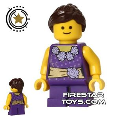 LEGO City Mini Figure - Girl - Purple Outfit