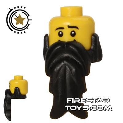 LEGO Hair - Beard - Black