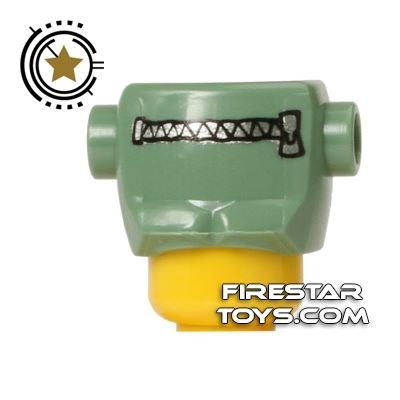 LEGO Frankenstein's Monster Head Top