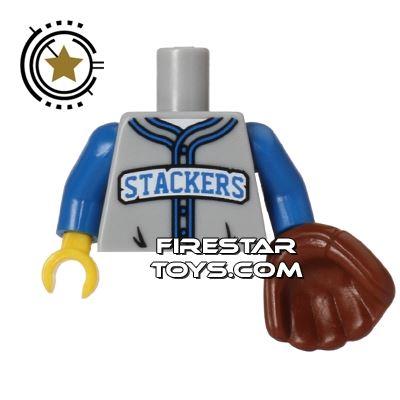 LEGO Mini Figure Torso - Baseball Fielder