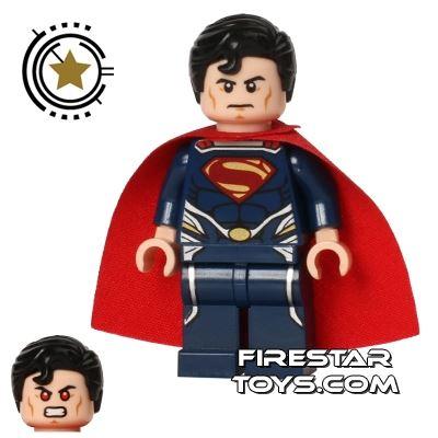 LEGO Super Heroes Mini Figure - Superman - Dark Blue Suit