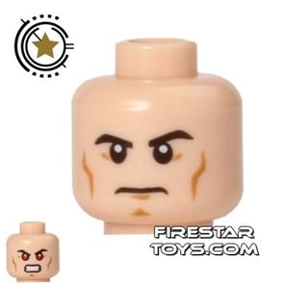 LEGO Mini Figure Heads - Superman - Red Eyes