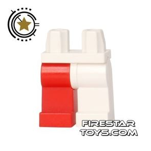 LEGO Minifigure Legs - White And Red - Jester