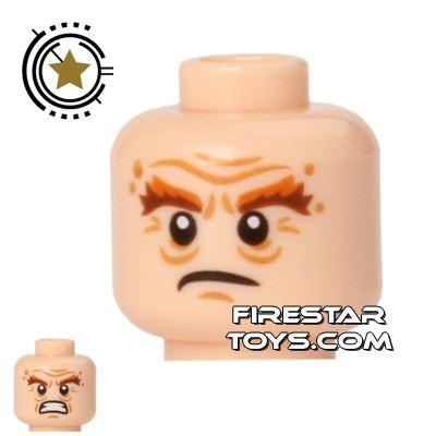 LEGO Mini Figure Heads - Gloin - Scowling / Angry