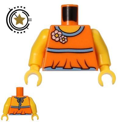 LEGO Minifigure Torso Halter Top with Flowers