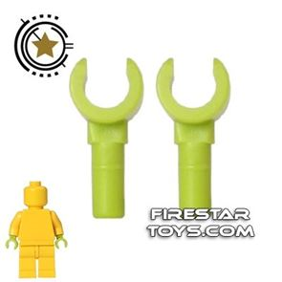 LEGO Mini Figure Hands - Pair - Lime