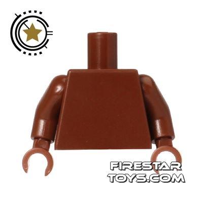 LEGO Mini Figure Torso - Plain Reddish Brown