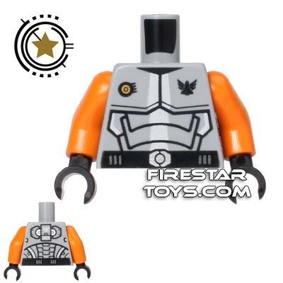 LEGO Mini Figure Torso - Galaxy Squad Armour - Orange