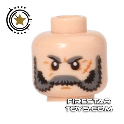 LEGO Mini Figure Heads - Bushy Gray Beard