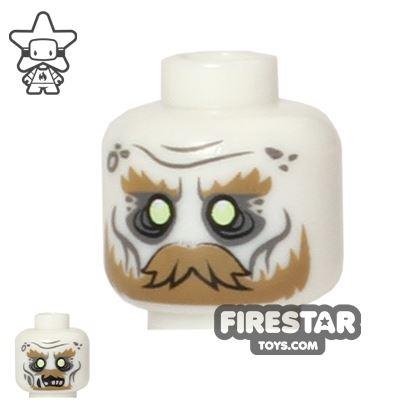 LEGO Mini Figure Heads - Ghost - Moustache - Glow in the Dark