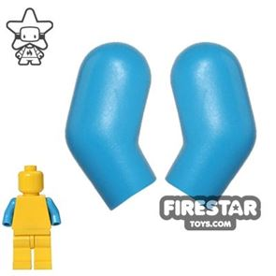 LEGO Mini Figure Arms - Pair - Dark Azure