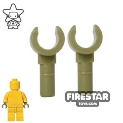 LEGO Mini Figure Hands - Pair - Olive Green