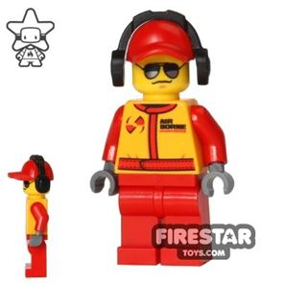 LEGO City Mini Figure - Monster Truck Mechanic - Headphones