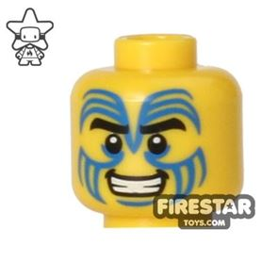 LEGO Mini Figure Heads - Tribal Island Warrior