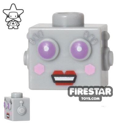 LEGO Mini Figure Heads - Lady Robot
