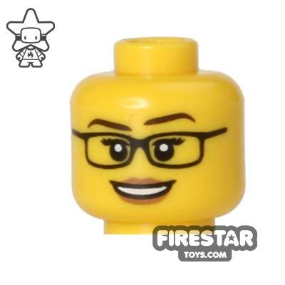 LEGO Mini Figure Heads - Smile and Glasses