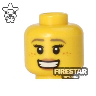 LEGO Mini Figure Heads - Big Smile and Freckles