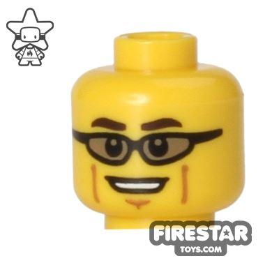 LEGO Mini Figure Heads - Sunglasses - Cheek Lines