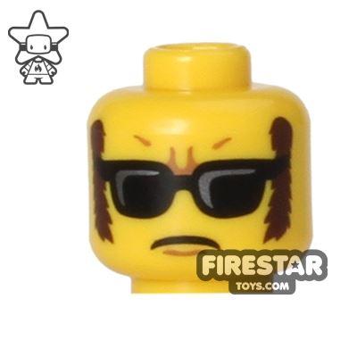 LEGO Mini Figure Heads - Sunglasses and Sideburns