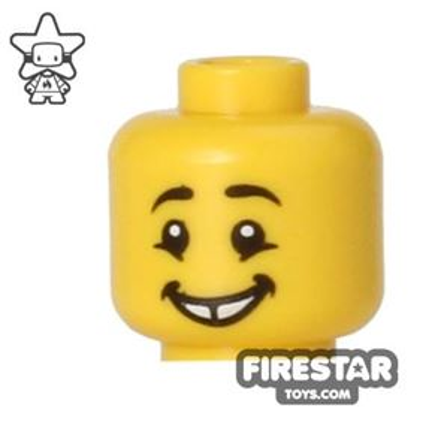 LEGO Mini Figure Heads - Smile - Gap Tooth