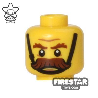 LEGO Mini Figure Heads - Moustache and Chin Strap