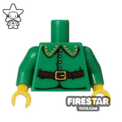 LEGO Mini Figure Torso - Holiday Elf