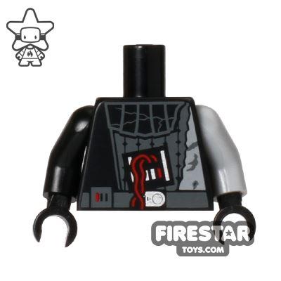 LEGO Mini Figure Torso - Darth Vader - Battle Damaged