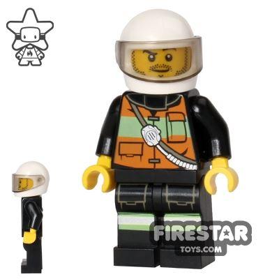 LEGO City Mini Figure – Fire - Orange Jacket