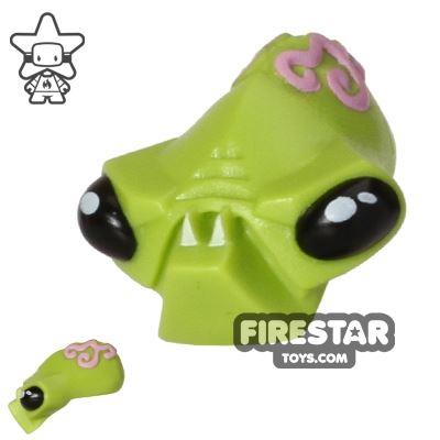 LEGO Mini Figure Heads - Alien Head - Fangs