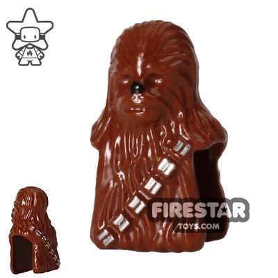 LEGO Mini Figure Heads - Star Wars Chewbacca - Reddish Brown
