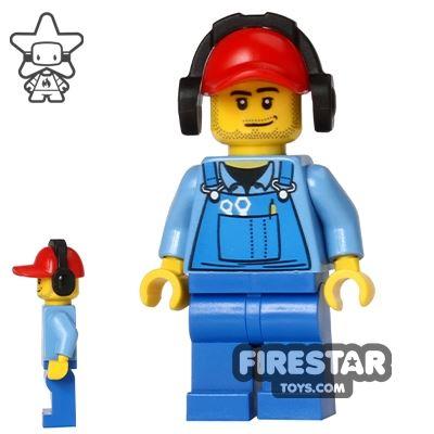 LEGO City Mini Figure - Cargo Worker - Headphones