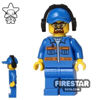 LEGO City Mini Figure - Overalls and  Headphones