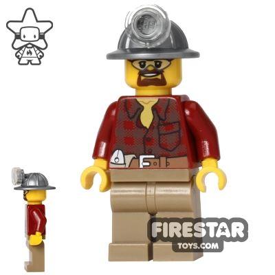 LEGO City Mini Figure - Miner - Flannel Shirt
