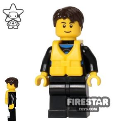 LEGO City Mini Figure - Coast Guard City - Sailor in Wetsuit