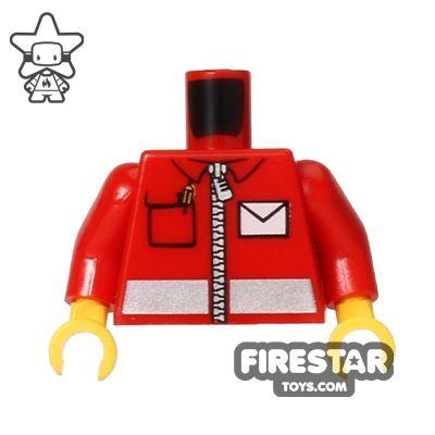 LEGO Mini Figure Torso - Postal Worker Uniform