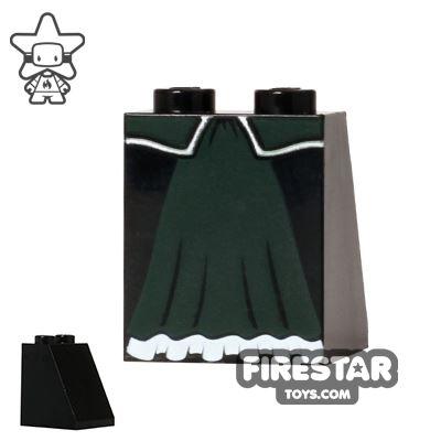 LEGO Mini Figure Legs - Dark Green Skirt