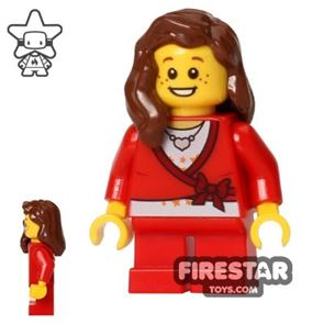 LEGO Holiday Mini Figure - Girl - Red Outfit